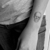 $5.27 vintage skull temporary tattoo by pepperink on Etsy