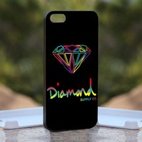 Diamond Supply Colorfull, Print on Hard Cover iPhone 4/4S Black Case