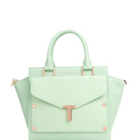 T tote and clutch bag - Pale Green | Bags | Ted Baker UK