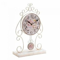 Coffee Table Decor Country Rose Tabletop Clock
