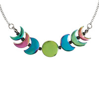 Rainbow Moon Phases Necklace