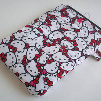 """Hello Kitty Kindle Case / Hot Pink / 7"""" Tablet / Nook Cover / iPad Case / 10"""" Tablet Cover / i Pad Sleeve / Hello Kitty iPad Accessories"""