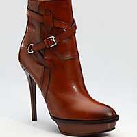 Ralph Lauren Collection - Burnished Ankle Boots - Saks Fifth Avenue Mobile