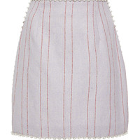Stripe Burlap Mini Skirt | Moda Operandi