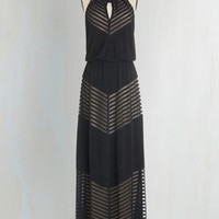 Rare and Remarkable Maxi Dress in Lines | Mod Retro Vintage Dresses | ModCloth.com