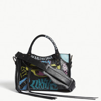 BALENCIAGA Classic city graffiti mini leather shoulder bag