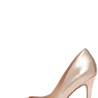 Charles by Charles David Pact Rose Gold Leather Pointed Pumps