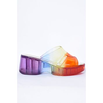 All of The Love Jelly Sandals - Rainbow