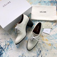 Celine Leather Lace-up Bootie #472