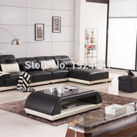 2016 Bean Bag Chair And Led Light Leather Living Room Furniture U Shaped Sectional Sofa Set Flower Play Mat Le Corbusier Chairs
