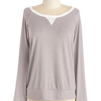 ModCloth Mid-length Long Sleeve In for the Day Top