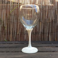 A Nice Day for a White Wedding-- wine glass