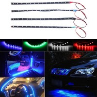 1 pc Car Interior Led Strip Sticker Daytime Running Lights Waterproof Flexible Car Light 4 Color
