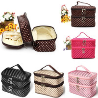 Double Layer Cosmetic Bag