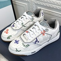 Dior Printed men's and women's low top sports shoes
