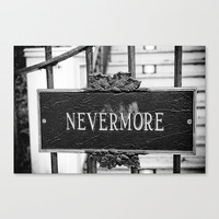 Street Signs Nevermore Edgar Allen Poe memorial New Orleans travel fine art photography black and white gifts under 50 wall decor