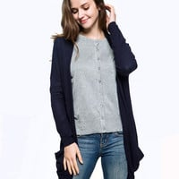 Spring Summer Women Plus Size Cardigan Knitted Sweater Long Sleeve Solid Color Thin Bolero Sweater Casual