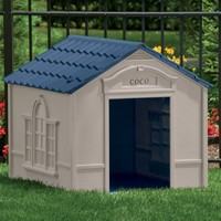 Suncast Large Deluxe Dog House with FREE Doors - DH350   www.hayneedle.com