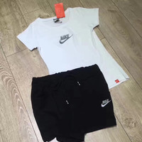 """Nike"" Women Fashion Print Short sleeve Top Shorts Pants Sweatpants Set Two-Piece Sportswear"