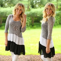 Third In Line Tunic in Black