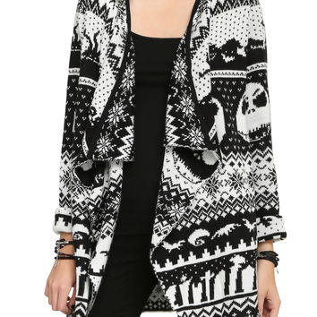 The Nightmare Before Christmas Intarsia Knit Cardigan