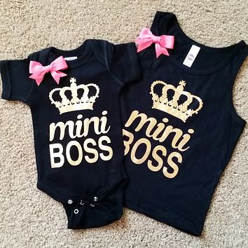 Mini Boss - Girls Tank - Mia Grace Designs - Onesuit - Ruffles with Love - RWL Kids