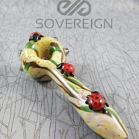 Lady Bug Spoon Pipe by Empire Glass Works