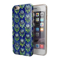 Dark Blue and Green Watercolor Peacock Feathers 2-Piece Hybrid INK-Fuzed Case for the iPhone 6/6s or 6/6s Plus
