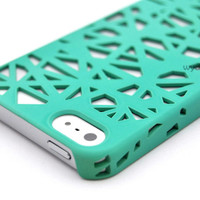 For iPhone 5 Birds Nest Design Thin Slim Case Cover +Stylus +Screen Protector