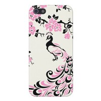 Black, pink, peacock and cherry blossoms custom from Zazzle.com
