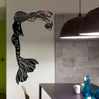 Vinyl Wall Sticker Decals for Nursery Mermaid Sea Ocean Decor for Bathroom Home Interior Art Mural Z721