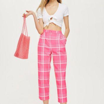 Checked Peg Trousers