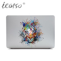 iCasso Tiger DIY Personality Vinyl Decal Laptop Sticker Hot Sell for Macbook Pro Air 13 15 inch Laptop Skin Shell for Mac Book