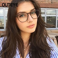 Transparent Computer Glasses Clear Fashion Eyeglasses Fake Optical Eye Glasses Frames For Women Myopia Glass Spectacles Eyewear