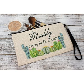 Personalized Cosmetic Bags | Custom Cosmetic Bags | Pretty Fly for a Cacti