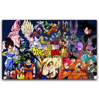 Dragon Ball Z Poster Goku Classic Anime Silk Art Poster New Japanese Anime Wall Pictures for Home Wall Decor