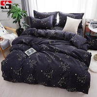 Sookie Zodiac Bedding Set Twin Full Queen King Size 3pcs Bed Linen Constellation Bedclothes Stars Print Duvet Cover Sets