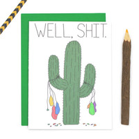 Funny Cactus Card