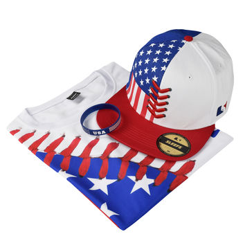 USA Baseball Lace Combo - Hat, Jersey and Wristband