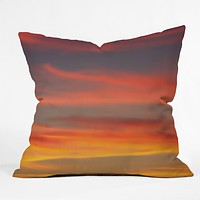 Shannon Clark Fire in the Sky Throw Pillow