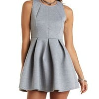 Sleeveless Pleated Skater Dress by Charlotte Russe