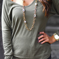 Wine And Dine Top: Deep Green | Hope's