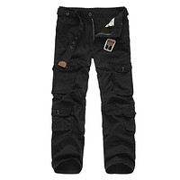 Multi Pockets Long Military Cargo Pants