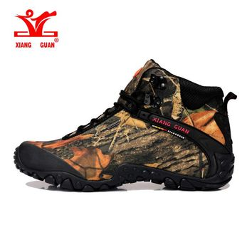 2017 xiangguan Man Outdoor Hiking Shoes Waterproof Breathable For Women Climbing Tourism Trekking Sneakers Boots EUR SIZE 36-48