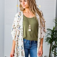 Got You Covered Floral Kimono