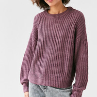 BDG Ashley Waffle Stitch Crew Neck Sweater | Urban Outfitters