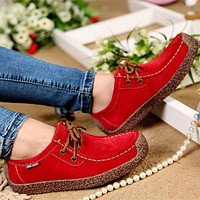Women Genuine Leather Comfortable loafers/ Walking Shoes