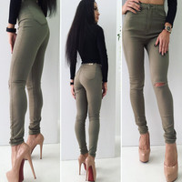 Ladies Casual Pants Summer Fashion Leggings [9328085380]