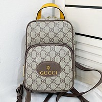 GG new product stitching color letter G printing ladies small mobile phone bag shoulder bag cosmetic bag