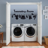 Wall Decal Vinyl Sticker Decals Art Decor Design Sign Quote Laundry Room Drop Your Pants Here Homeware House Family Bedroom Style Dorm M1585 Maden in USA